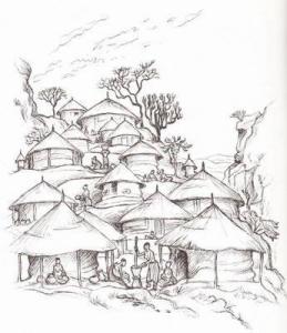 A traditional Venda village